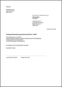 Kfz Versicherung R V Kundigungsschreiben Zum Download