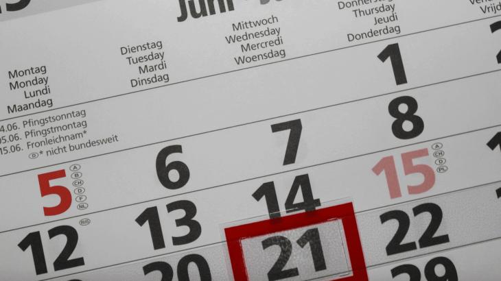 Kalender Kündigungstermine