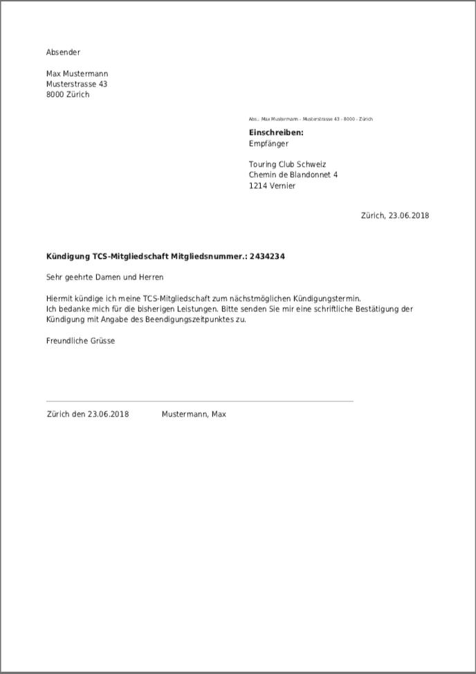 Mitgliedschaft muster kündigung Bahncard kündigen