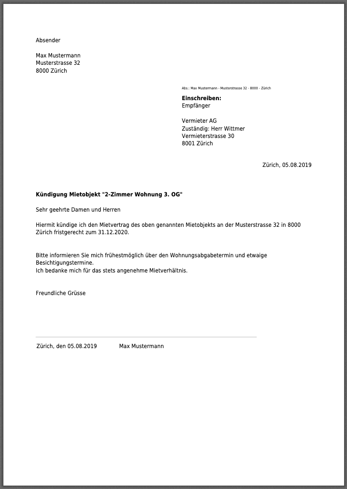 Rental Termination Notice Letter from cdn.vertragshilfe.ch