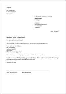 Muster Kündigung Swissaid